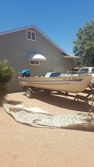 1979 meyer alum. boat w 2003 50 hp outboard for Sale in Payson, AZ
