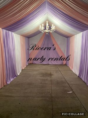 Draping available 10x20 whit draping $200 for Sale in Artesia, CA