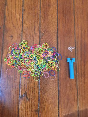 Rainbow loom bands with mini loom and c clips for Sale in Arlington, VA