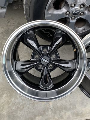 American Muscle black rims 18x10 and 18x8 for Sale in Chicago, IL