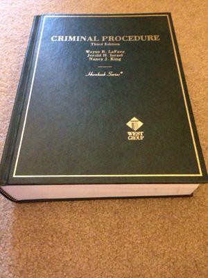 Criminal Procedure hard cover Book 3rd edition for Sale in Tacoma, WA
