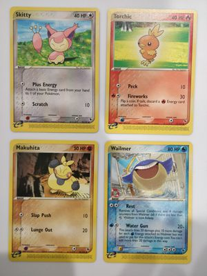 Skitty Torchic Makuhita Wailmer Mint Pokemon EX-R&S for Sale in Forest Heights, MD