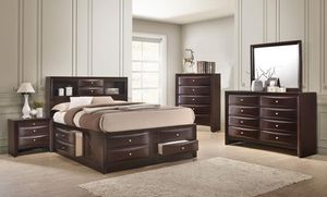 Emily Dark Cherry Storaolhge Platform Bedroom Set for Sale in Baltimore, MD