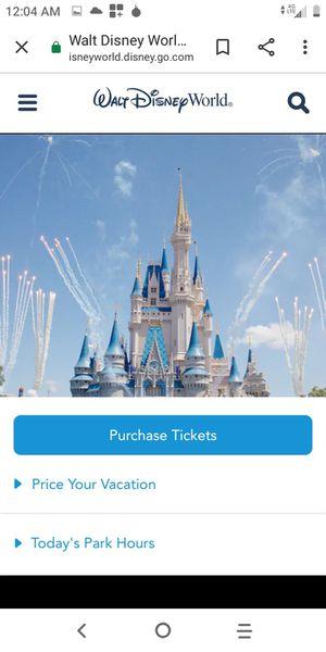 Disney world tickets for Sale in Winter Park, FL