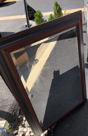 Brown wooden mirror for Sale in Ashburn, VA