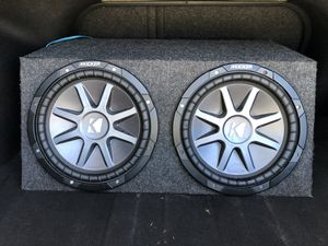 """2 12"""" Kicker CompVR subs and amp for Sale in Port Richey, FL"""