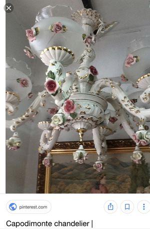 Capodimonte Classic Chandelier w/Roses for Sale in Herndon, VA