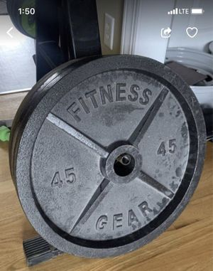 Weight Pates (2) 45lbs. Heavy Metal for Sale in Fuquay-Varina, NC
