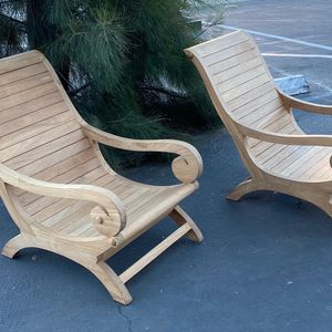 Solid Teak Lounge Chair 350.00 ea. for Sale in Los Angeles, CA