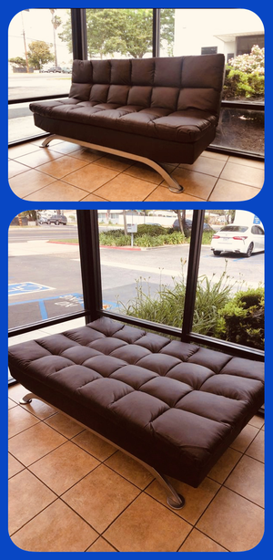 """🔥👍🔥Black or Dark Brown PU Futon Sofa Bed - 72.5"""" x 36"""" x 36.25""""🔥👍🔥 for Sale in Norco, CA"""