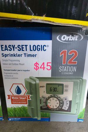 12 station orbit sprinkler timer outdoor for Sale in Bakersfield, CA