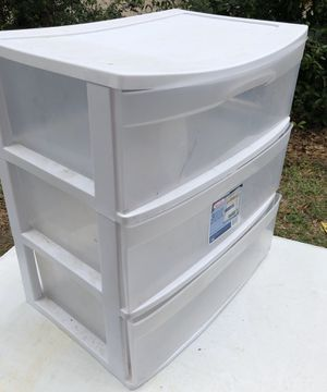 Sterilite wide 3 drawers plastic storage for Sale in The Woodlands, TX