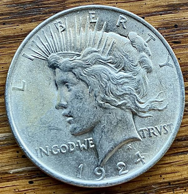 1924 peace dollar great condition