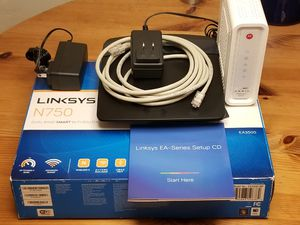 Cox cable modem and Linksys WIFI Router for Sale in San Diego, CA