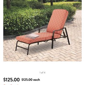 Mainstays Outdoor Patio Chaise Lounge for Sale in San Antonio, TX