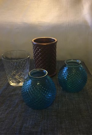 Glass containers/candle holders/vases for Sale in Albuquerque, NM
