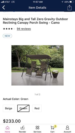 Brand new canopy porch swing NEW IN BOX for Sale in Gilbert, AZ