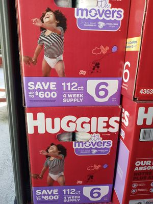 Huggies little movers size 6/112 counts/$45 a box for Sale in Gardena, CA