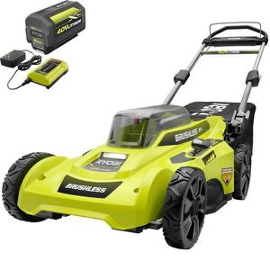 20 in. 40-Volt Brushless Lithium-Ion Cordless Battery Walk Behind Push Lawn Mower 6.0 Ah Battery/Charger Included by RYOBI for Sale in Carson, CA