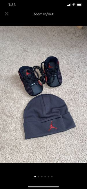 New! Jordan 13 retro baby shoes and beanie for Sale in Philadelphia, PA