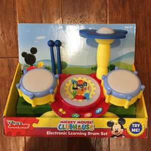 Electronic Learning Drum Set Mickey Mouse Brand New for Sale in Naperville, IL