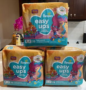 Pampers Easy Ups Training Underwear for Girls, Size 4 2T-3T - 25 ct for Sale in Huntington Park, CA