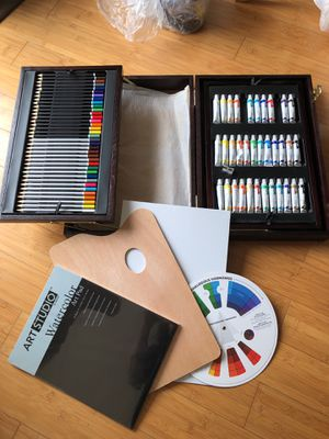 Artist's art supply in wooden case - many pieces! for Sale in Santa Monica, CA