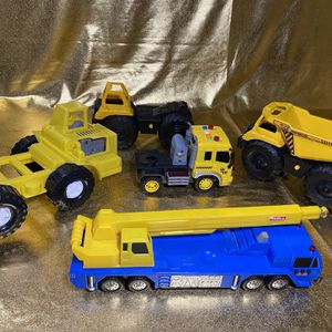 Construction Boys Toys Large Trucks With Sounds And Lights Bundle for Sale in San Antonio, TX