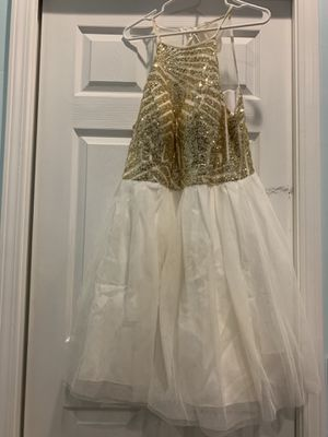 B. Darlin juniors size 16/17 gold dress for Sale in St. Louis, MO