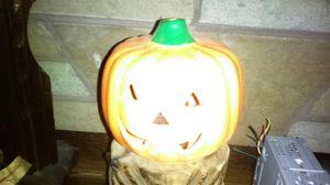 Jack o lantern ceramic pumpkin candle holder n we 10$ for Sale in Tacoma, WA