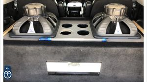 2 Subwoofers, Customized box, 2 APMS & Working for Sale in Whittier, CA