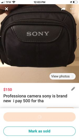 Camera sony brand new never used ask 150 for Sale in Joppa, MD