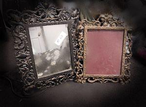 Antique ornate brass frame/mirror for Sale in Tuckerton, NJ