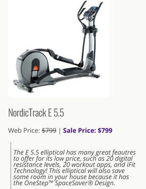 Nordic Track 5.5 Elliptical for Sale in Vancouver, WA