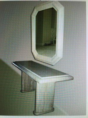 Travertine console table n mirror for Sale in Houston, TX