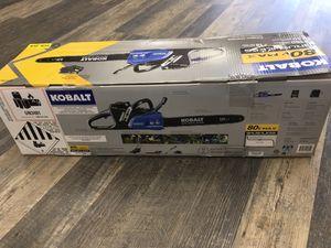 Kobalt 80V Cordless Brushless Chainsaw Kit KCS 180B-06 Brand New for Sale in Lynn, MA