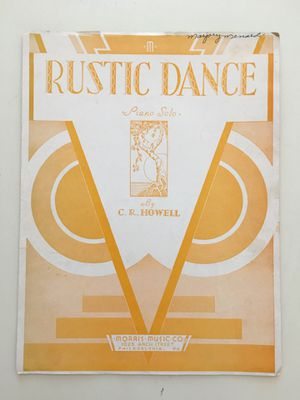 Vintage Morris Music Co Sheet Music 1933: Rustic Dance Piano Solo by Howell; Londonderry Air Vocal by Potter for Sale in Glendale, AZ