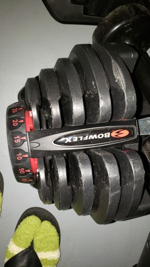 Bowflex weights and holder for Sale in Boca Raton, FL