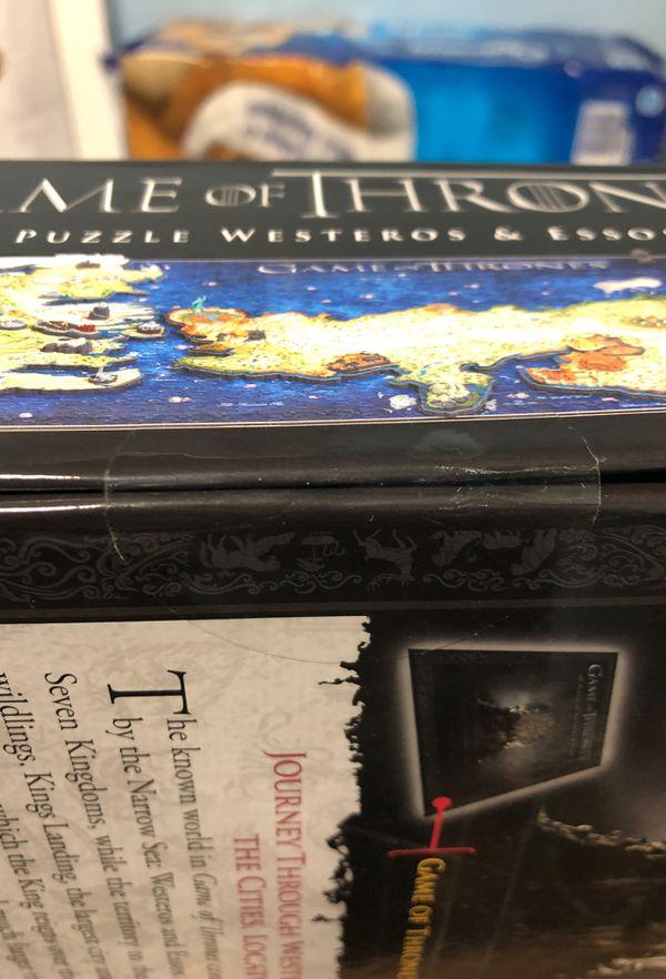 Game of thrones 4d puzzle of Westeros essos