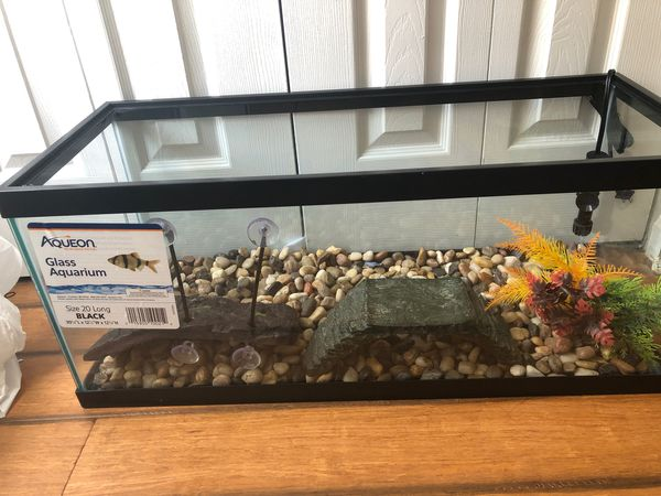 Brand New Never Used Fish/turtle Tank With Rocks
