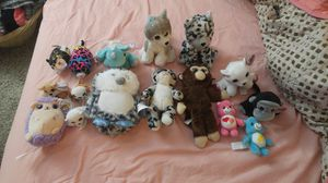 New, never played with lot of 16 plush small stuffed animals with crystal eyes for Sale in Etna, OH