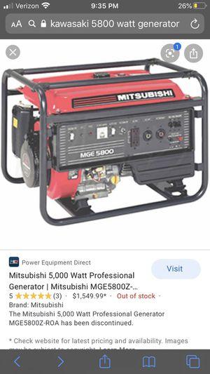 5800 watt generator for Sale in Irmo, SC