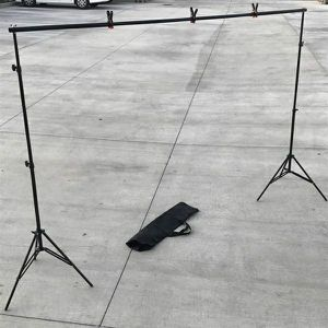 New in box max 10x7 Feet height and width Adjustable Backdrop Frame Kit Banner Stand Includes 3 Clamps and Carrying Bag for Sale in Pico Rivera, CA