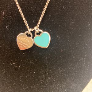 "Tiffany & Co Two Heart Necklace, 16"" for Sale in Fort Worth, TX"