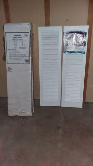 White plastic window shutters for Sale in Brainerd, MN