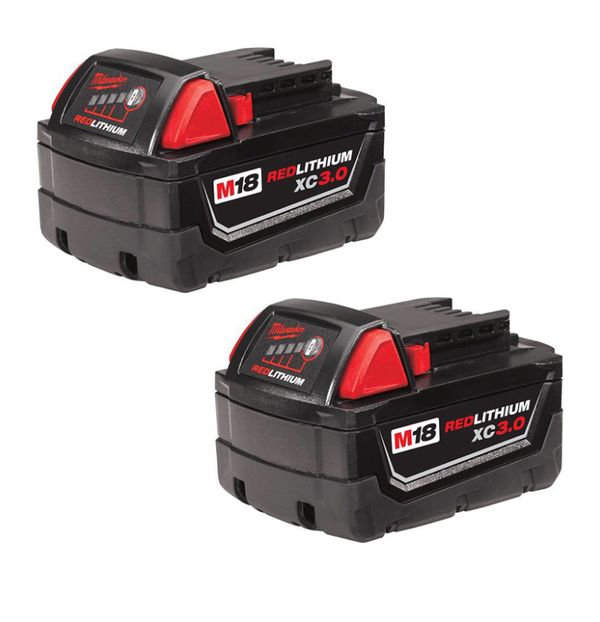2 Milwaukee 3.0 battery