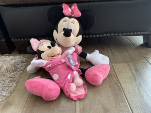 Minnie Mouse and baby Minnie Plush for Sale in Las Vegas, NV