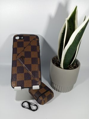 Bundle of Brown Square iPhone 8 Soft Case with Airpods Case for Sale in Loma Linda, CA