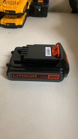 BLACK AND DECKER 2.5AH BATTERY for Sale in Glendora, CA