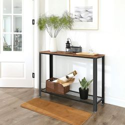 Rustic Brown Wood Look Accent Furniture with Metal Frame Industrial Console, Sofa Table for Entryway or Living Room for Sale in Ontario,  CA